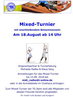 Aushang Mixed Turnier
